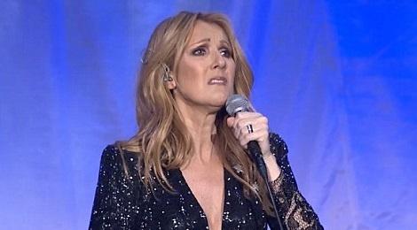 Celine Dion oa khoc tren san khau Las Vegas khi hat ve chong hinh anh