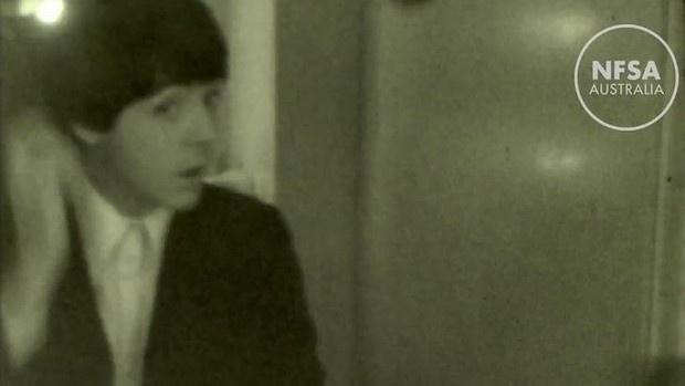 Hinh anh dang yeu cua The Beatles trong clip tu lieu hinh anh