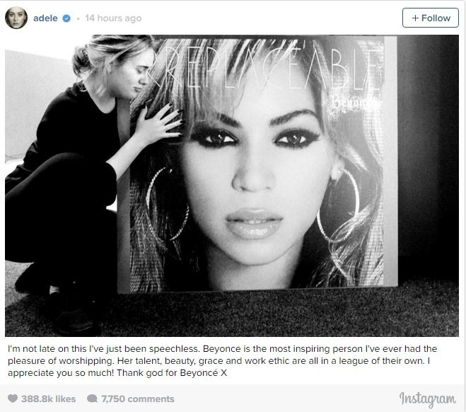 Fan thich thu phan ung cua Adele ve album moi cua Beyonce hinh anh 2