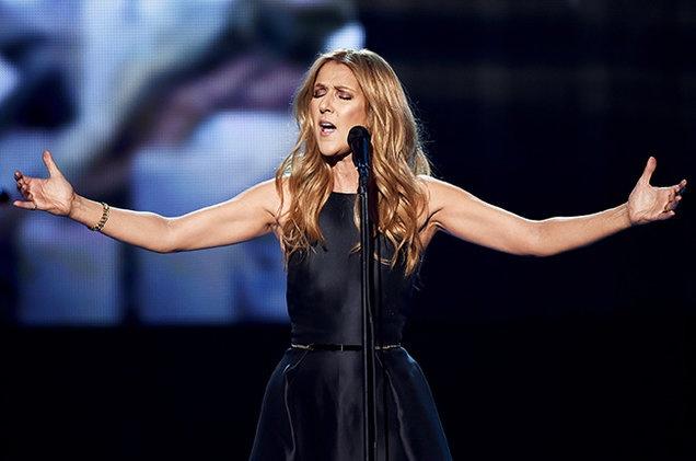 Celine Dion lan dau len tren truyen hinh sau khi chong mat hinh anh