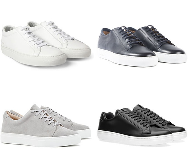 Meo dien giay sneakers voi suit di lam cho nam gioi hinh anh 2