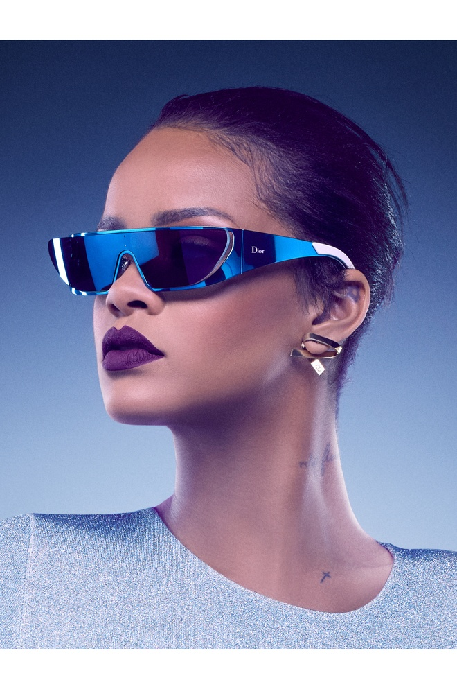 Rihanna ket hop cung Dior trong bo suu tap kinh mat moi hinh anh 1