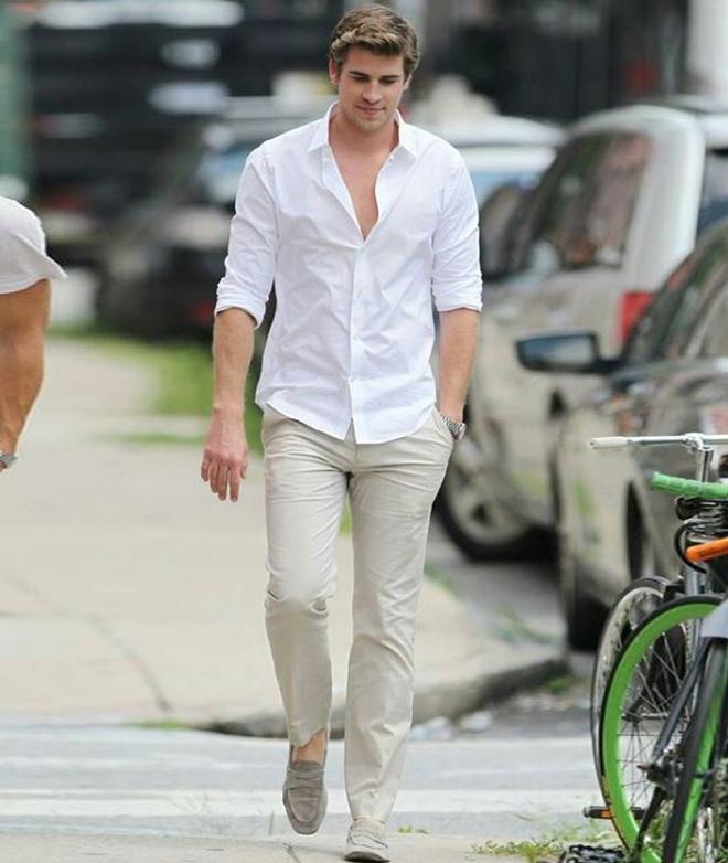 Phong cach thoi trang nam tinh cua Liam Hemsworth hinh anh 5
