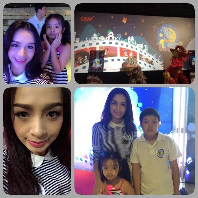 Thúy Hằng: Cựu người mẫu muốn các con học và hiểu thêm về cuộc sống xung quanh nên đã đưa hai con tới dự một đêm hội trăng rằm cùng trẻ em làng SOS ở Hà Nội.