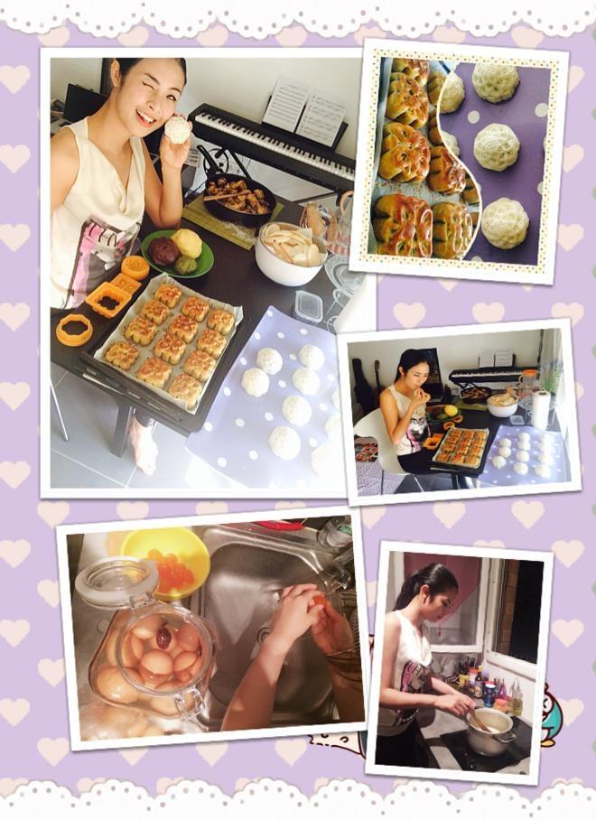 Hoa hậu Ngọc Hân: Chia sẻ hình ảnh đang làm bánh trên trang cá nhân, Lần đầu đón trung thu xa nhà, cũng lần đầu biết tự làm bánh trung thu....thật thú vị!