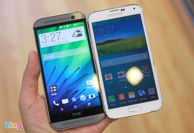 Galaxy S5 so dang HTC One M8 o VN hinh anh 1