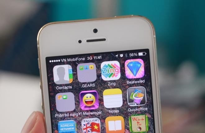 iPhone 5S khoa mang gan 12 trieu chay SIM ghep VN on dinh hinh anh