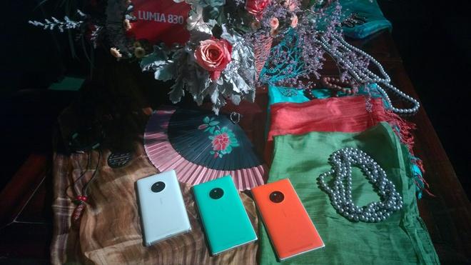 Hình ảnh Lumia 830 tại sự kiện. Ảnh: Khoa Nguyễn.
