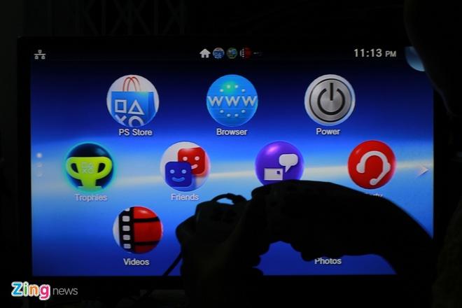 Danh gia nhanh may choi game Sony PS Vita TV moi ban o VN hinh anh 3 Giao diện của Vita TV được sắp xếp với các logo tổ ong.