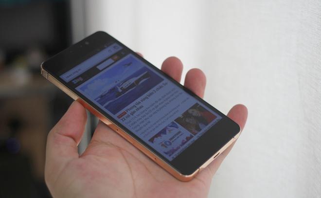 Anh thuc te smartphone Viet mong 6,9 mm, ma vang hinh anh