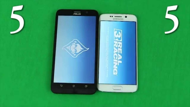 Zenfone 2 do mo ung dung nhanh voi Galaxy S6 Edge hinh anh