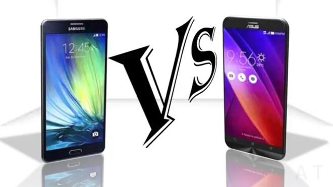 So sanh Zenfone 2 va Galaxy E7 hinh anh