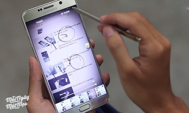 Cach chup man hinh va chinh sua nhanh tren Galaxy Note 5 hinh anh