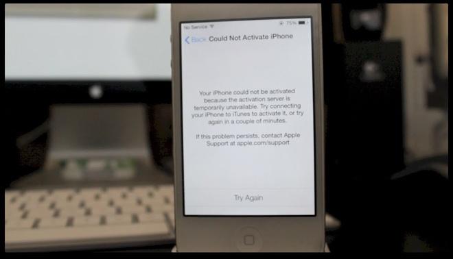 Server Apple bi loi, khong kich hoat duoc iPhone o VN hinh anh