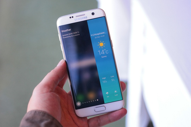 Anh, video thuc te Galaxy S7 edge voi man hinh cong 2 mat hinh anh