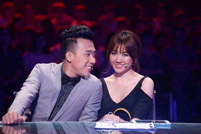 Hari Won va Tran Thanh chat chem nhau tren ghe nong hinh anh