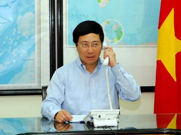 Viet Nam yeu cau Trung Quoc rut het gian khoan HD-981 hinh anh 1 Phó thủ tướng, Bộ trưởng Ngoại giao Phạm Bình Minh.