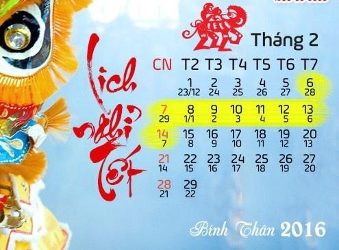 Chot phuong an nghi Tet Binh Than 9 ngay hinh anh