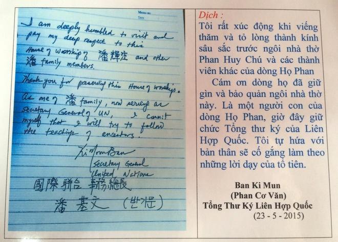 Tong thu ky LHQ tham nha tho ho Phan Huy hinh anh 2