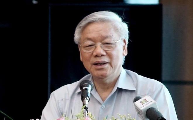 Ung vien Nguyen Phu Trong hua hoc, nghe dan nhieu hon hinh anh