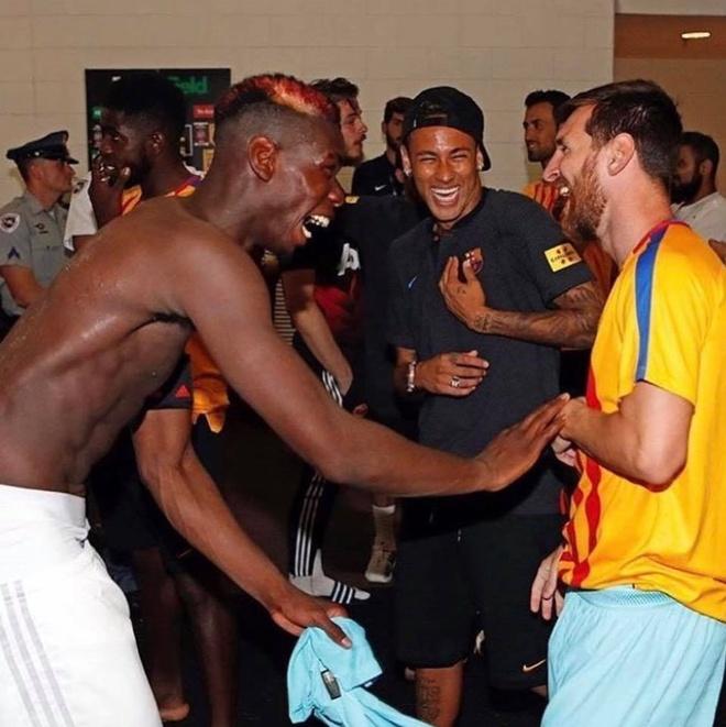 Pogba cuoi dua voi Messi,  Neymar anh 3