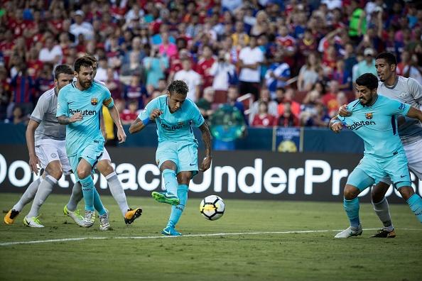 Pogba cuoi dua voi Messi,  Neymar anh 4