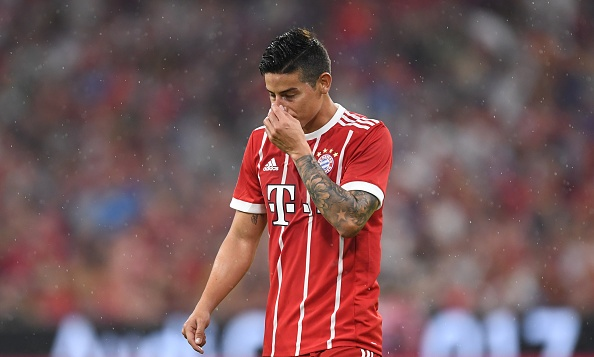 James choi mo nhat, Bayern tham bai tren san nha hinh anh