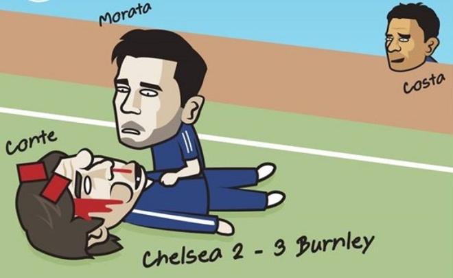 Hi hoa Costa 'cuoi deu' khi Conte thua tran hinh anh