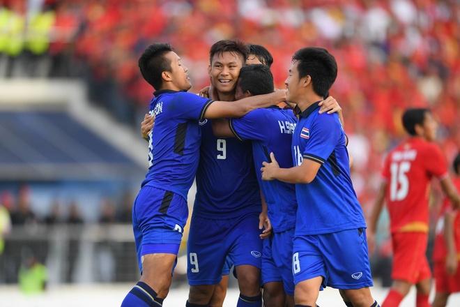 Ha Myanmar, U22 Thai Lan gianh ve vao chung ket SEA Games hinh anh 1