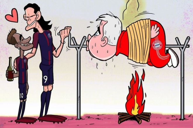 Hi hoa Neymar, Cavani hop luc 'lam goi' Carlo Ancelotti hinh anh