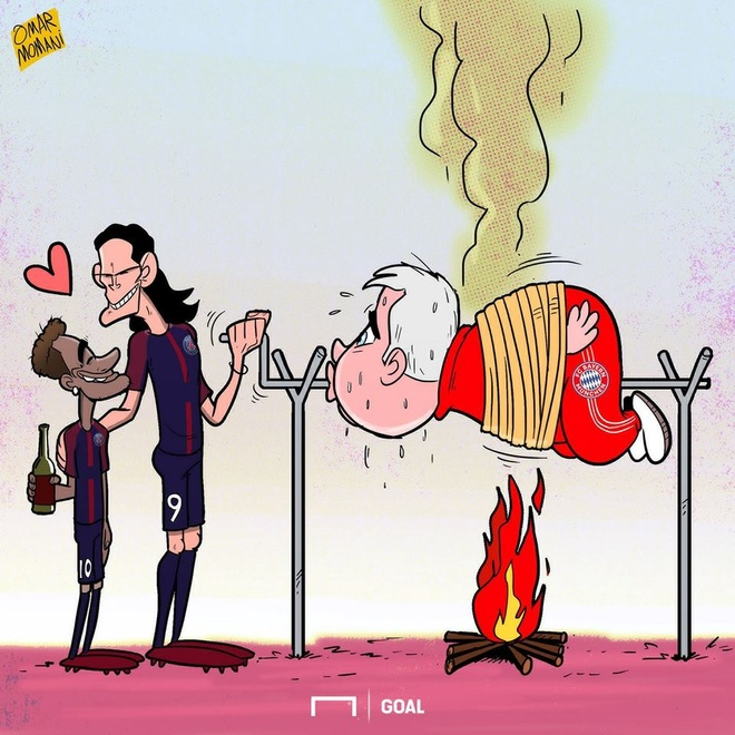 Hi hoa Neymar, Cavani hop luc 'lam goi' Carlo Ancelotti hinh anh 1