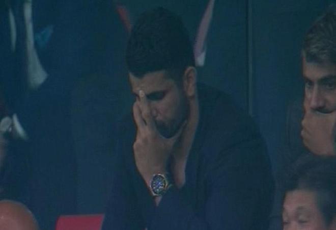 Diego Costa buon rau nhin Chelsea danh bai Atletico Madrid hinh anh