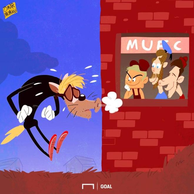 Hi hoa soi Klopp bat luc truoc tuong gach cua heo Mourinho hinh anh 1. Tấn  công ...