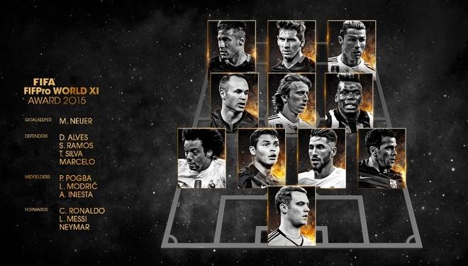 Hon 1 thap ky Ronaldo, Messi thong tri doi hinh hay nhat nam cua FIFA hinh anh 12