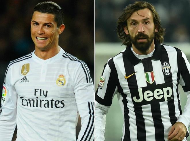 Ronaldo bi gat khoi doi hinh trong mo cua Pirlo hinh anh