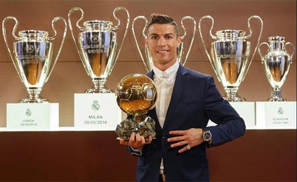 thong tri Qua bong vang cua Ronaldo,  Messi anh 10