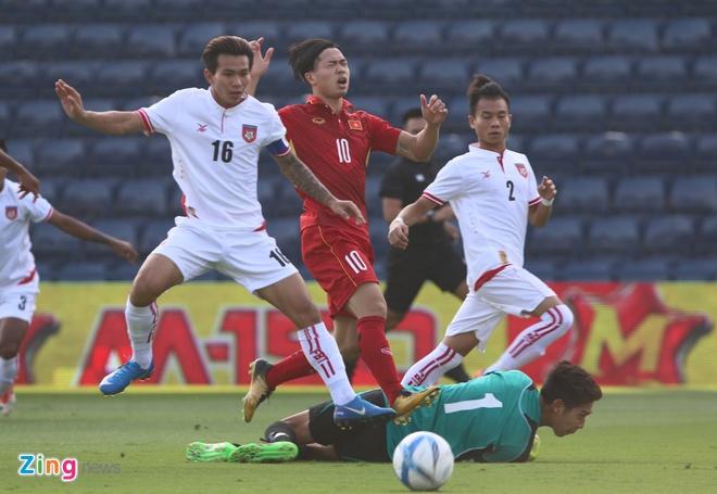 U23 Viet Nam 4-0 U23 Myanmar: Quang Hai lap cu dup dang cap hinh anh 11