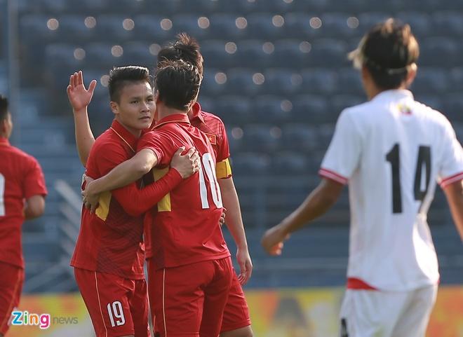 U23 Viet Nam 4-0 U23 Myanmar: Quang Hai lap cu dup dang cap hinh anh 13