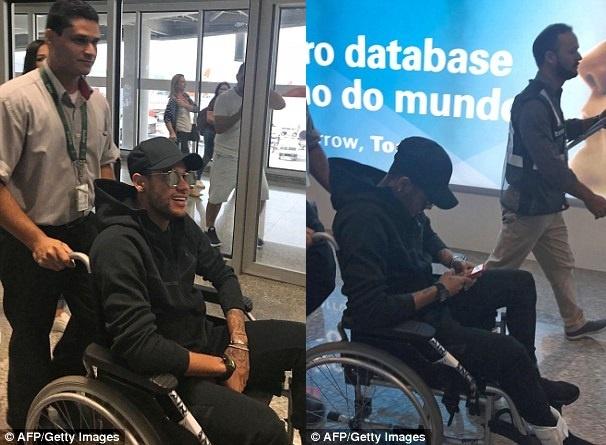 Neymar ngoi xe lan tro lai Brazil hinh anh 1