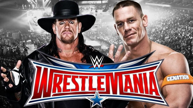 John Cena thach dau The Undertaker tai Wrestle Mania hinh anh