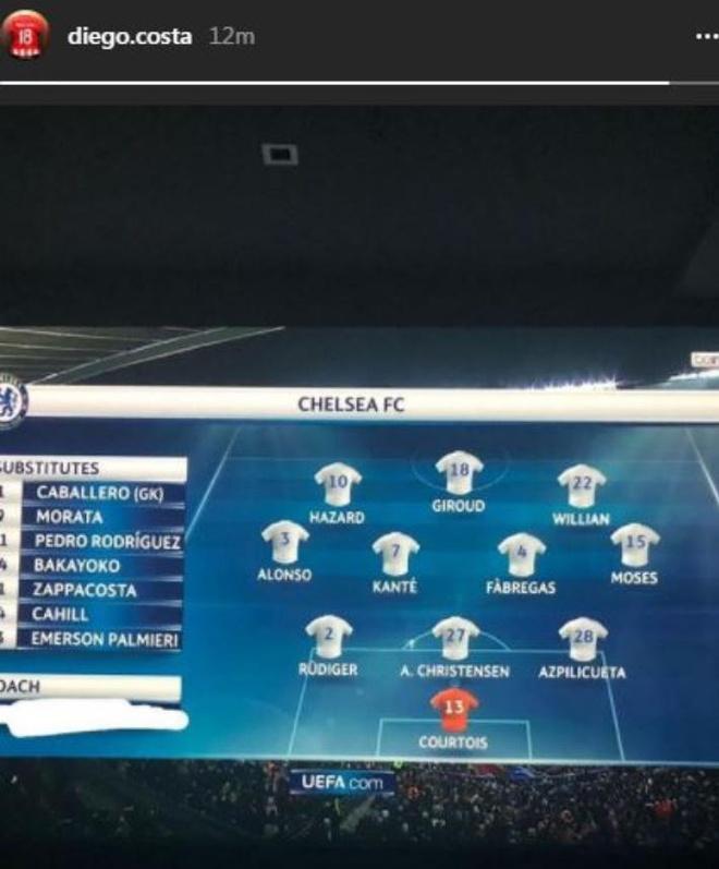 Co vu Chelsea, Diego Costa khong quen tra thu Conte hinh anh 1