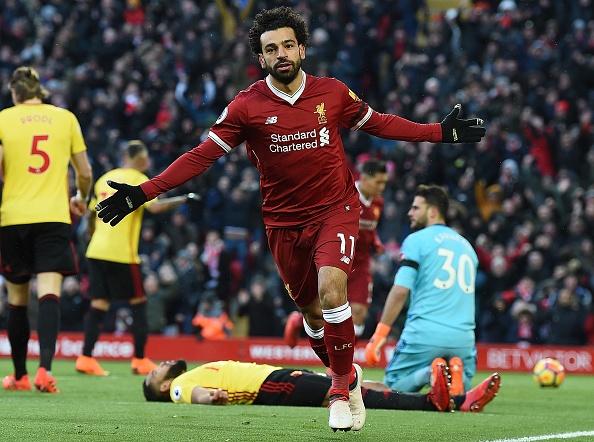Lap poker vao luoi Watford, Salah ghi danh lich su Premier League hinh anh 1