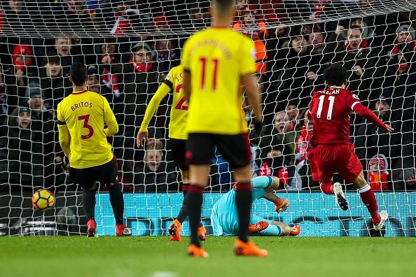 Lap poker vao luoi Watford, Salah ghi danh lich su Premier League hinh anh 9