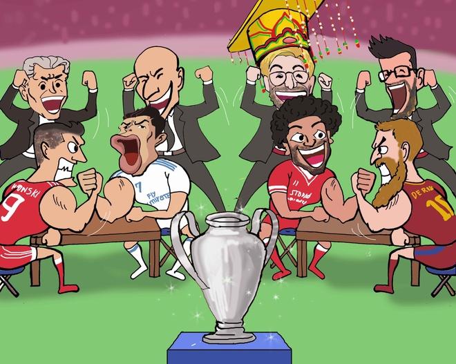 Hi hoa Ronaldo va cac sao vat tay tranh ve vao chung ket hinh anh
