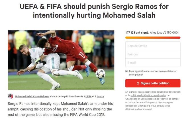 150.000 nguoi ky ten doi UEFA trung phat Ramos sau pha triet ha Salah hinh anh 2