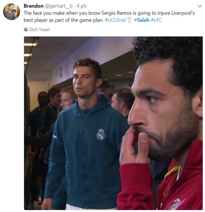 CDV phan no voi pha be vai 'nhu vo si MMA' cua Ramos voi Salah hinh anh 9