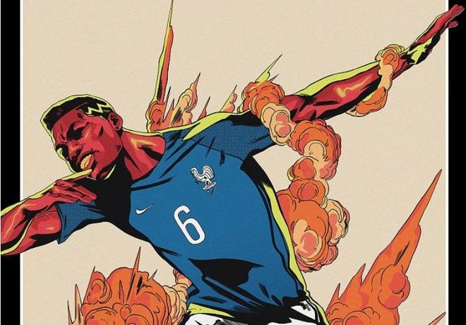 Ronaldo, Messi, Pogba an tuong trong bo poster World Cup 2018 hinh anh