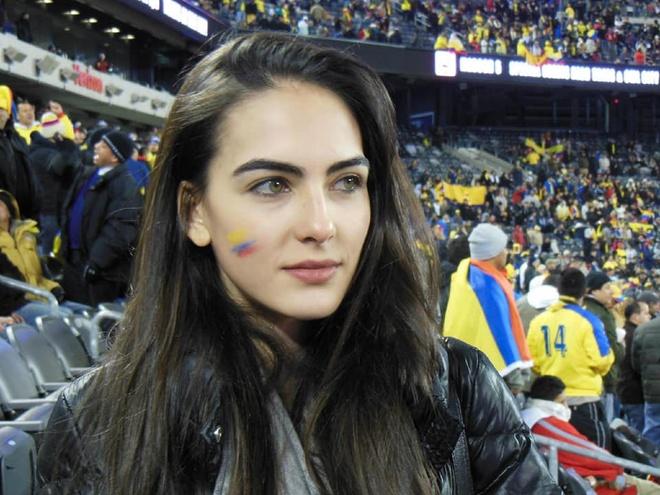 Dan mang truy tim thong tin co gai 'gay thuong nho' la fan Colombia hinh anh 1
