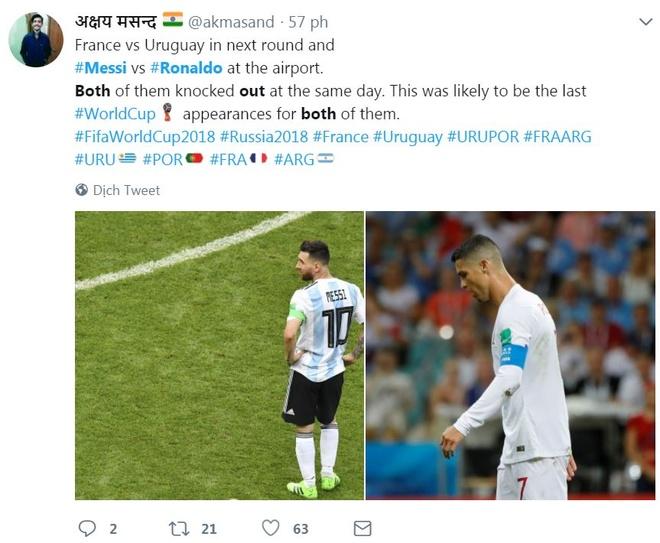 CDV buon ba vi Ronaldo, Messi bi loai trong cung mot ngay hinh anh 4