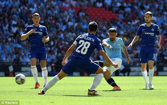 Aguero lap cu dup, Man City ha Chelsea de gianh sieu cup Anh hinh anh 19